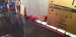 Water Damage Upper West Side Flooding In Warehouse