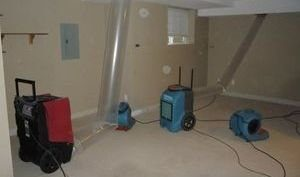 Water Damage Restoraiton Vacuuming Attic